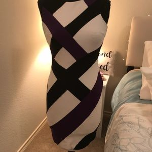Chic Cache Purple/White/Black Dress